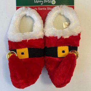 NWT- Kids Santa Slippers Sz (13-1)